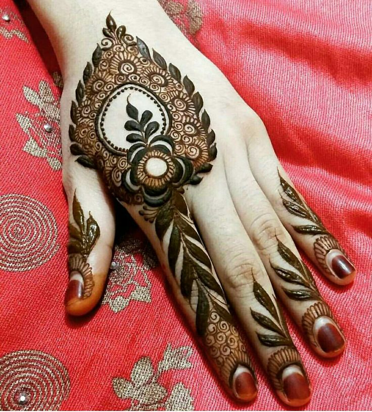 Simple mehendi design | wedding inspirations | wedfine.com |