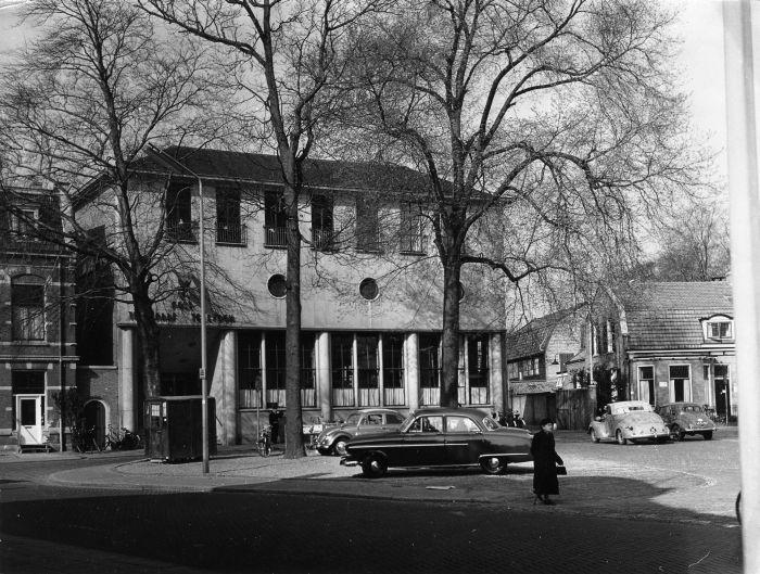 Kerkbrink. het nieuwe postkantoor, 1961