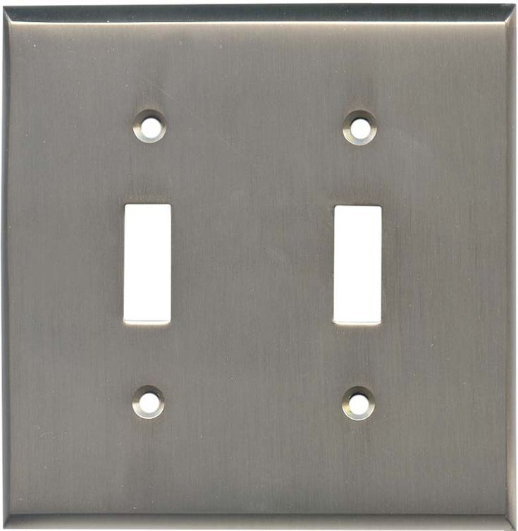 satin nickel switch plates outlet covers rocker. Black Bedroom Furniture Sets. Home Design Ideas