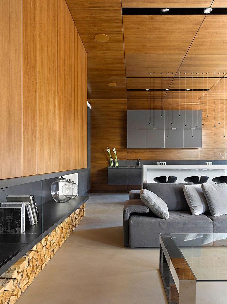mozhaisk apartment by alexandra fedorova - Modernes Wohnzimmer Des Innenarchitekturlebensraums