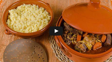 Ensopado de cordeiro com cous cous marroquino
