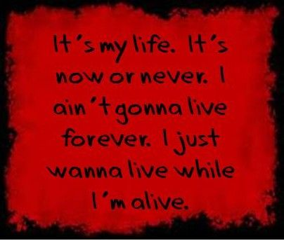Bon Jovi It's my life. Training song, to remember that it's your life and you are responsible for what you make of it.