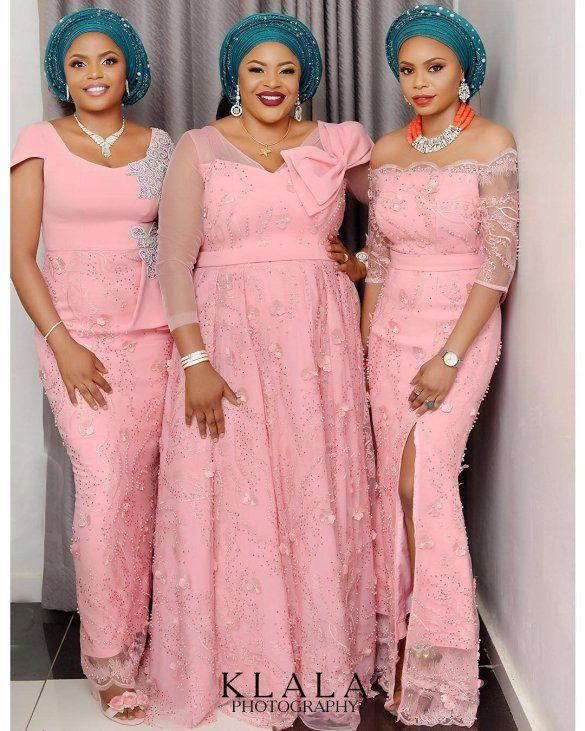 100 Trend Setting Gorgeous Aso Ebi Styles Wedding Digest Naija African Lace Dresses African Design Dresses Lace Gown Styles