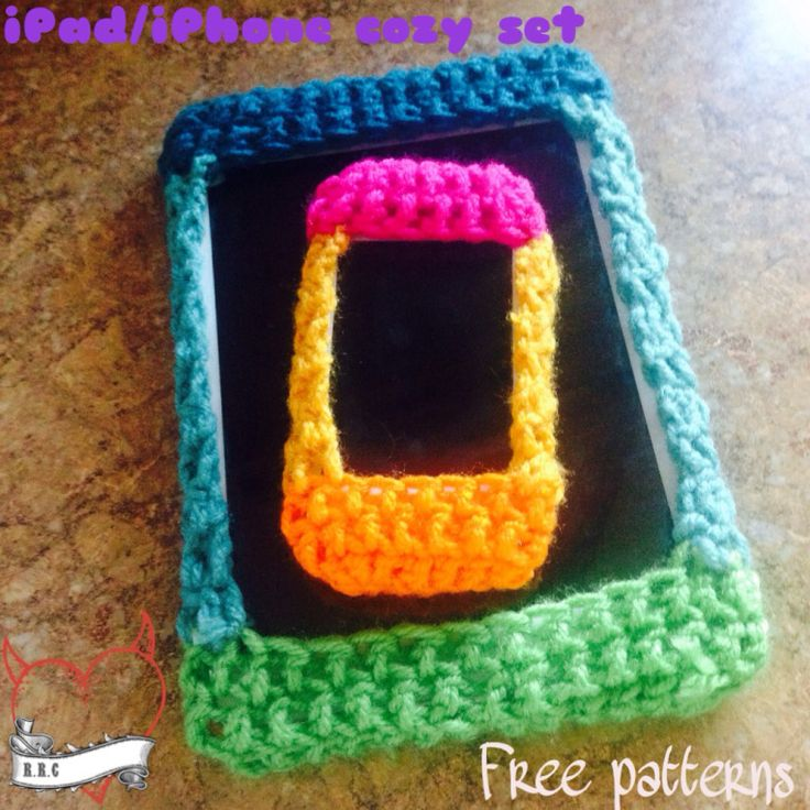crochet phone and tablet cover