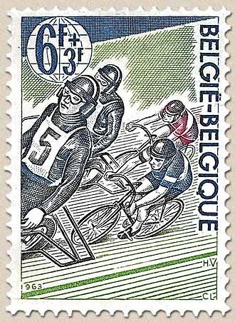 belgian stamps 80th Anniversary of Belgian After Derny'sFederation of Bicycle.