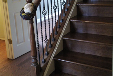 Best Stairs Made Of Red Oak With Dark Walnut Stain And A Nice 400 x 300
