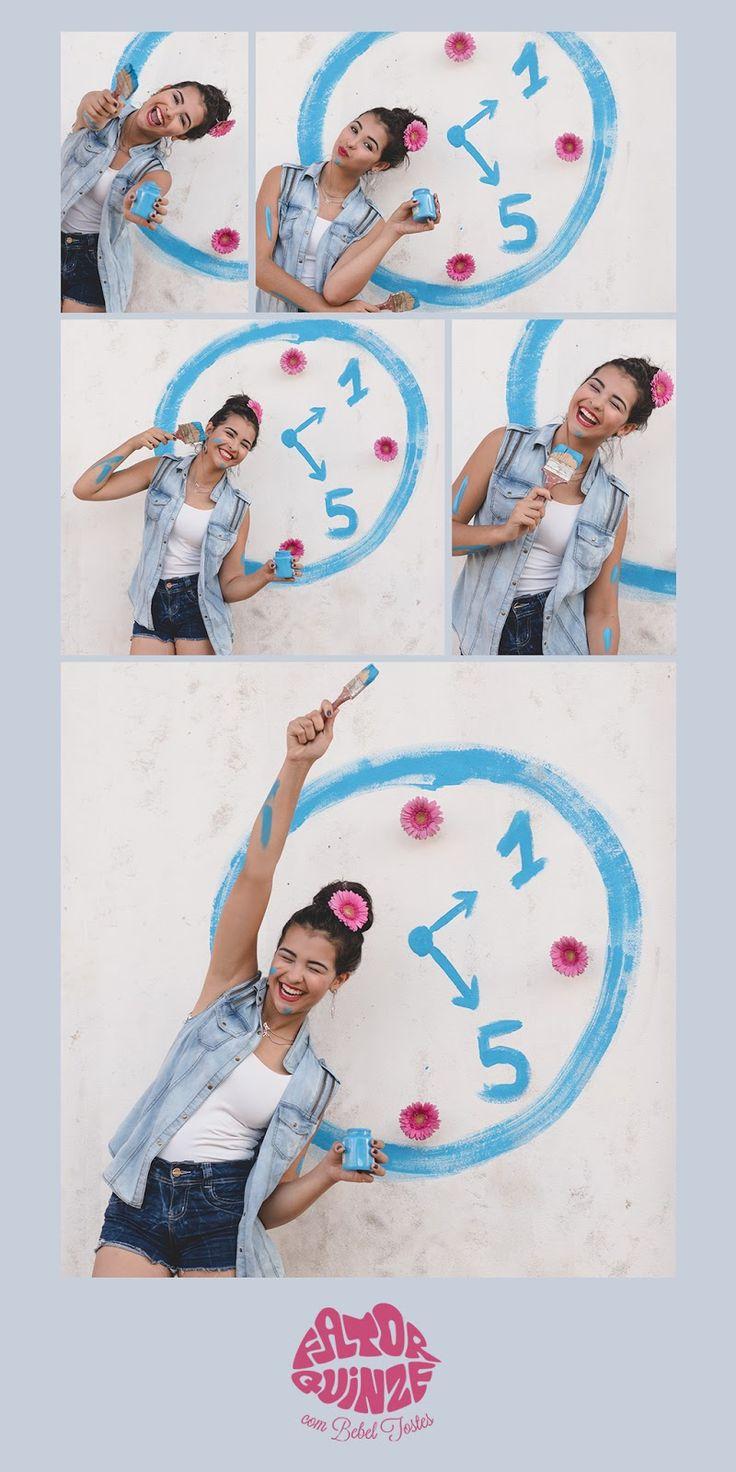 Fator Quinze Fotografia - Flores - Relógio - Tinta - 15 anos - Fator Quinze - Foto -  Fotografia - Foto com luzes - Light - Lindas - Laranja - Vermelho - Branco - Rosa  - Debutante - Foto de 15 anos - Quinze Anos