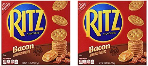 Nabisco Ritz Crackers Bacon Flavored 2 Pack (13.25 Oz Each)