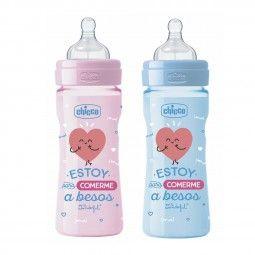 Biberón 250 ml de 2m+, Mr. Wonderful para Chicco #chicco #baby #pacifier #chupete #bebé #niño #kids #children #biberon #feedingbottle #MrWonderfull