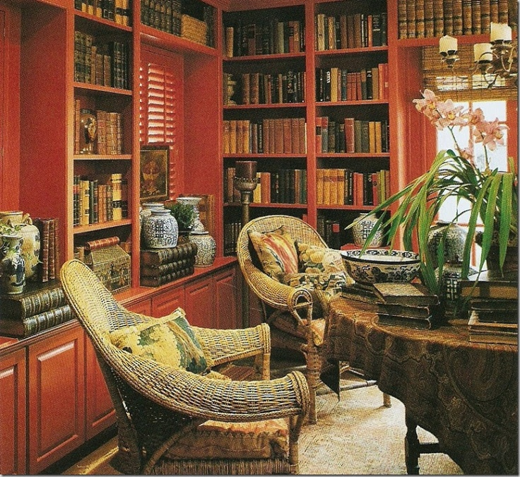 Red Library Dining Room
