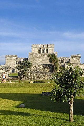 C 21 Tulum El Castillo, ruinas mayas de Tulum, 1200-1524, Tulum, Quintana Roo ...