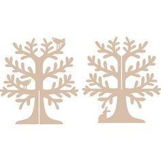 standing tree shape mdf