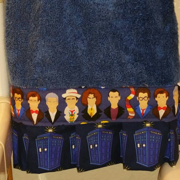 Put together a doctor who hand towel for our Doctor Who Bathroom.