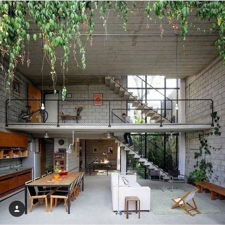 Sunken Living Room Rooms House Architecture Instagram Posts Interior Design Courtyards Brazil Entrance Board