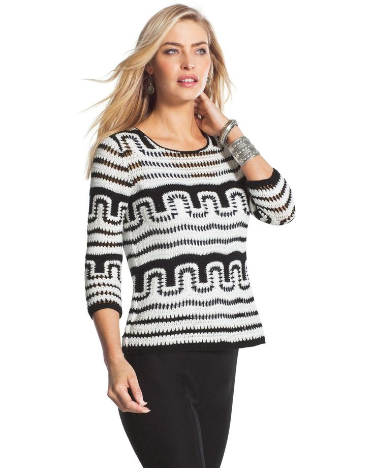 Chico's Patterned Sabel Pullover #chicos