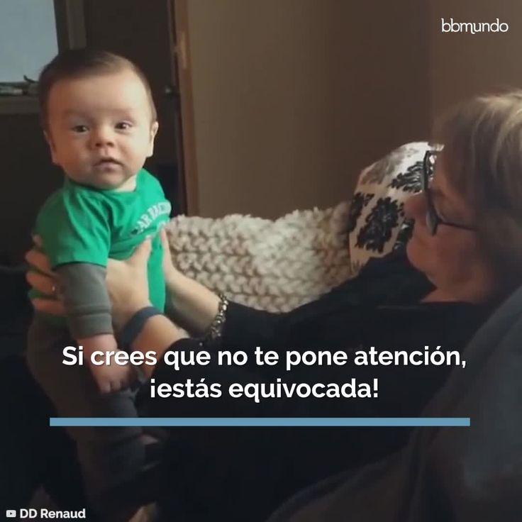 Aunque te sientas un poco ignorada al hablarle a tu bebé, ¡sí funciona! Prank Videos, Pranks, Pregnancy, Parenting, Baby Shower, This Or That Questions, How To Plan, Learning, Brain