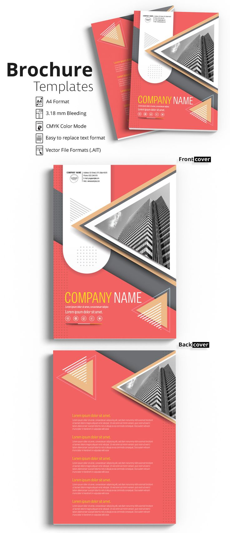 Brochure Cover Layout with Yellow and Dark Pink Accents 1 - image | Adobe Stock #Brochure #Business #Proposal #Booklet #Flyer #Template #Design #Layout #Cover #Book #Booklet #A4 #Annual #Report| Brochure template | Brochure design template | Flyers | Template | Brochures | Flyer Background | Background design | Business Proposal | Proposal Design | Booklet | Professional | Professional - Proposal - Brochure - Template