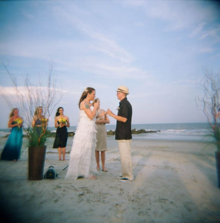 """Up"" Inspired Beach Wedding (With Holga!)"