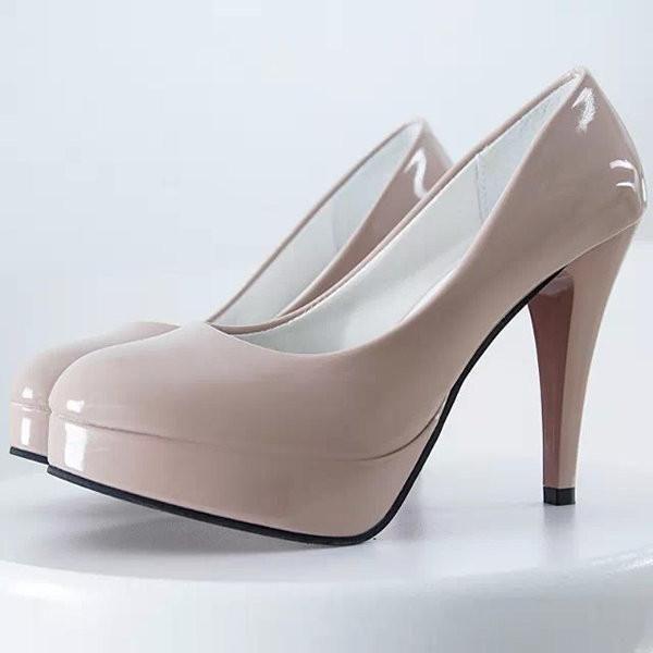 11cm Big Size Pure Color High Heel Office Lady Pumps