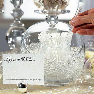 Wedding 'Love Bubble' Bolle sapone tubo cuore