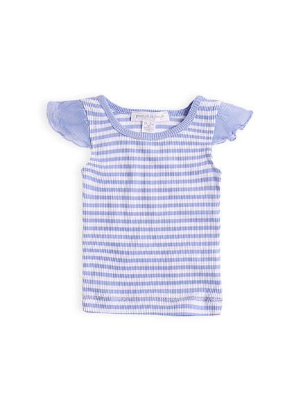 Flutter sleeve pop top from Pumpkin Patch clearance range, miami sky sizes 0-3m…