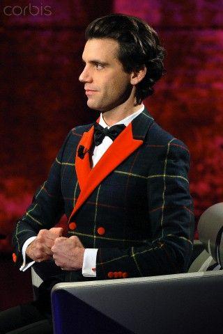 Mika appears on the Italian TV show 'Che tempo che fa', hosted by Fabio Fazio at RAI studios in Milan, Italy