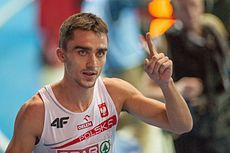 Adam Kszot - Mistrz Europy w biegu na 800 metrów! Photo from http://pl.wikipedia.org/wiki/Adam_Kszczot .