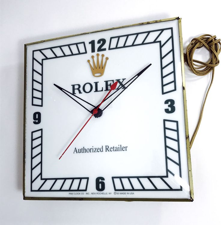 1960S ROLEX WATCH SELLERS DEALERS ADVERTISING PROMOTIONAL PAM CLOCK
