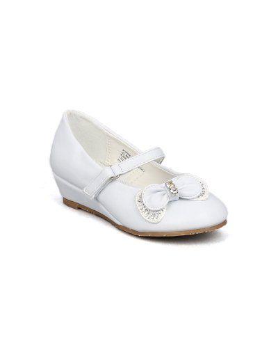 Little Angel Sophie-660E Bow Embellishment Round Toe Wedge Heel Sandal (Toddler/Little Girl/Big Girl) - White (Size: Little Kid 11) Little Angel http://www.amazon.com/dp/B00IA8TMYE/ref=cm_sw_r_pi_dp_TG2Rtb0WY9Q8YPZE