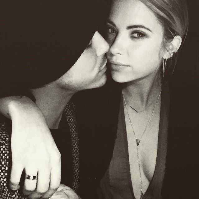 We love this photo of Tyler Blackburn and Ashley Benson. | Pretty Little Liars