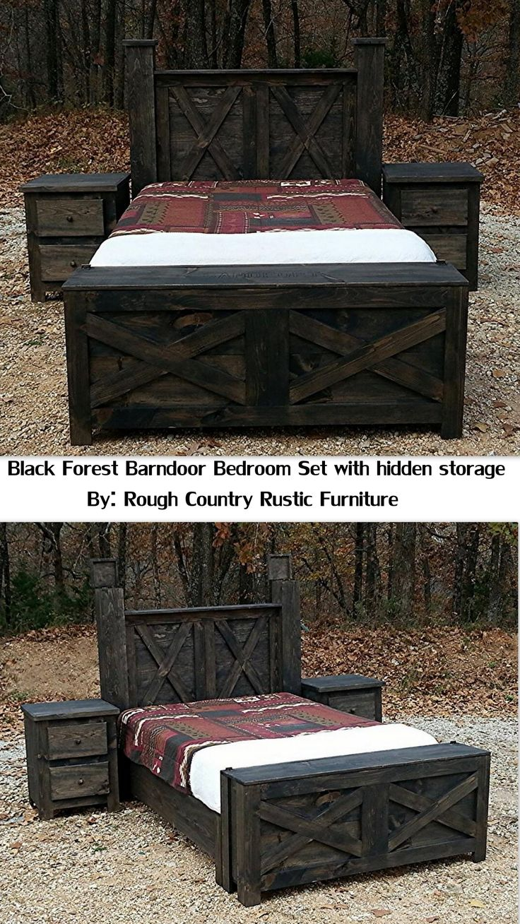 5 pc Tactical black Forest Barndoor Bedroom Set