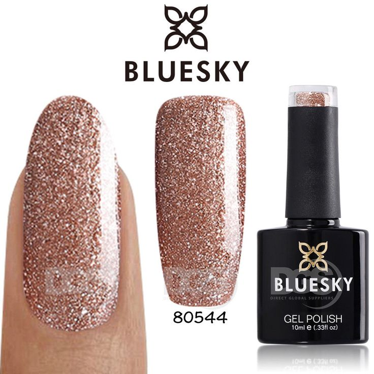 Bluesky 80544 TINSEL TOAST UV/LED Soak Off Gel Nail Polish Art 10ml Free Postage