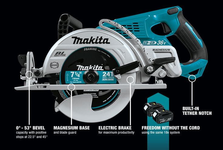 Makita 18V X2 Brushless Rear-Handle Circular Saw  It's time to make a lot of sawdust now that Makita has introduced the world's first Makita 18V X2 Brushless Rear-Handle Circular Saw!   #makita #circularsaw #saw #Makitaxrs01 #tools #cordlesstools #powertools #36V #construction #carpentry #framing #wormdrive  https://www.protoolreviews.com/tools/power/cordless/saws-cordless/makita-18v-x2-brushless-rear-handle-circular-saw/28419/