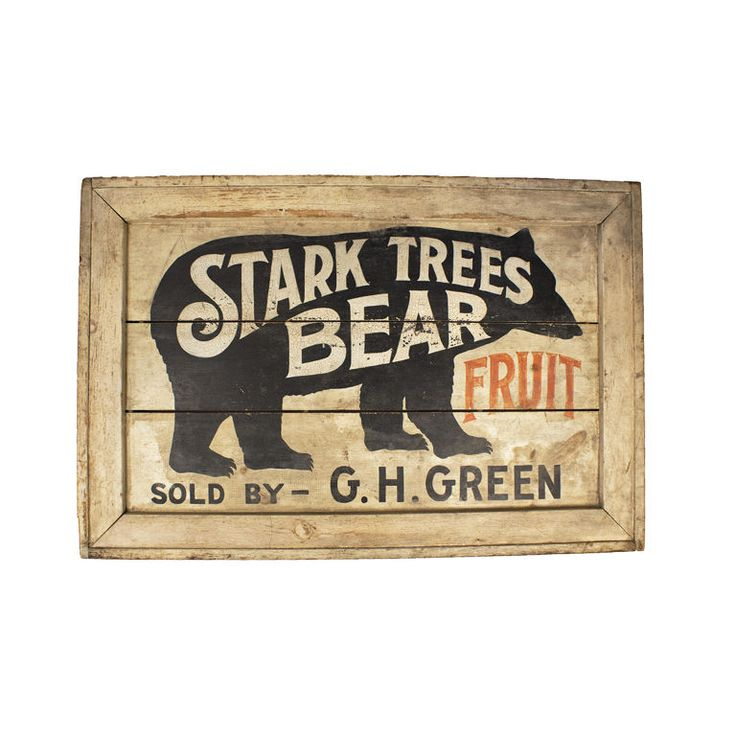 Double Sided Stark Trees Bear Fruit Sign