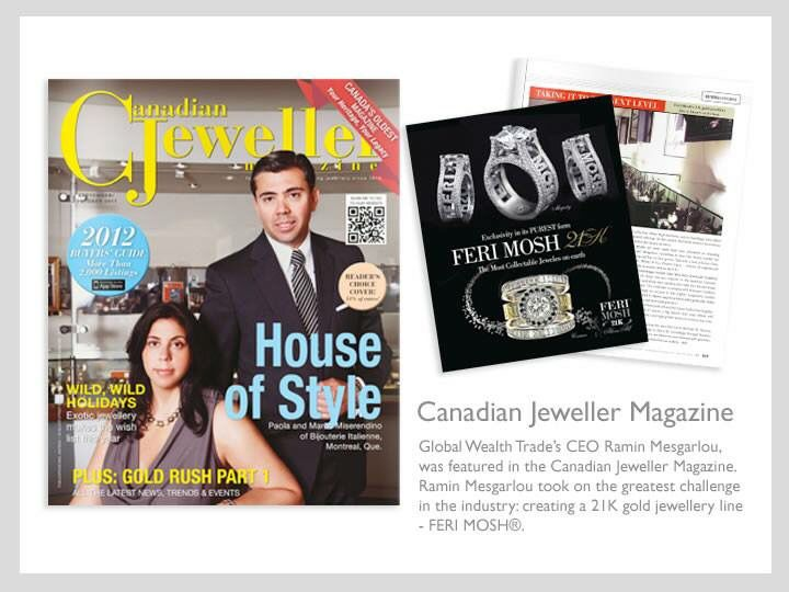 Our FERI MOSH featured in the canadian Jeweller magazine