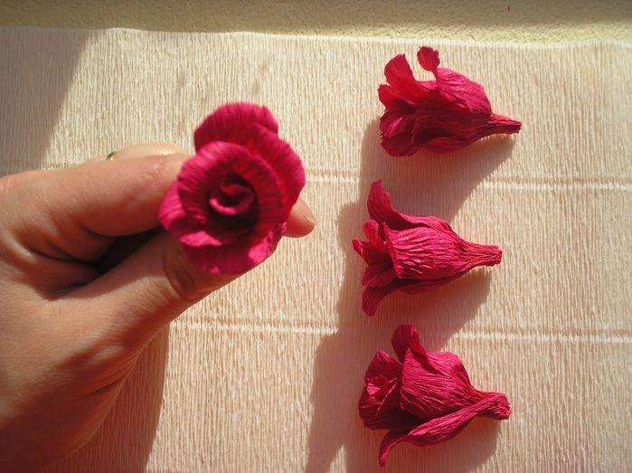 ROSA CON PAPEL CREPE Decoracin Pinterest Posts And