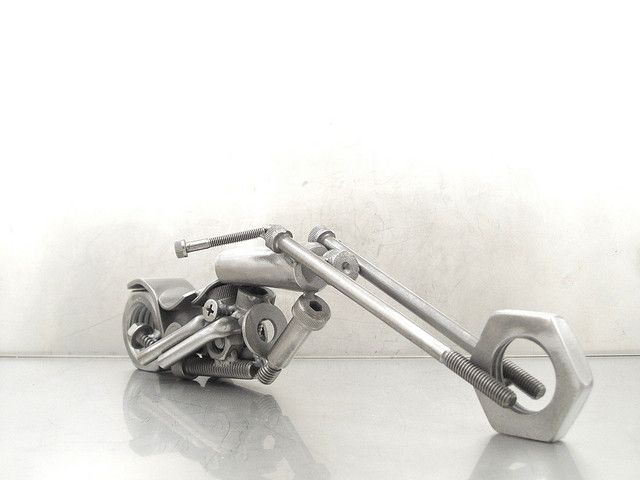 nuts+and+bolts+metal+art | Nuts and Bolts Motorcycle sculptures | Flickr - Photo Sharing!