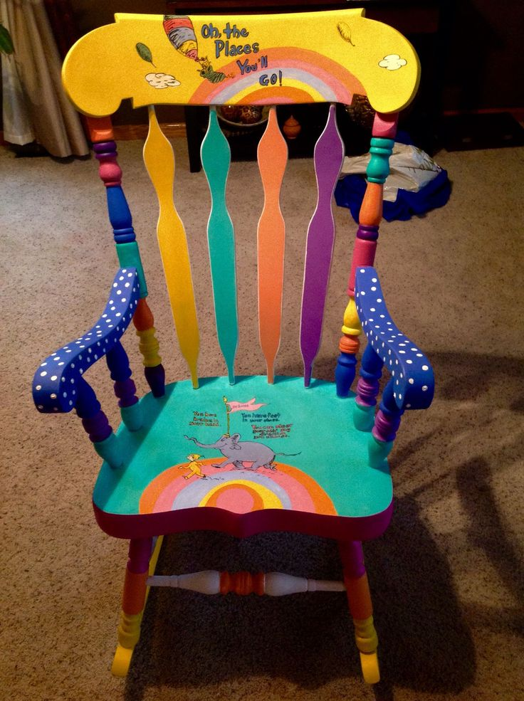 Dr.Seuss painted chair. #PaintedChair