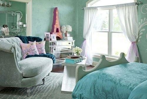 französischer stil schlafzimmer inneneinrichtung ideen in minze ...