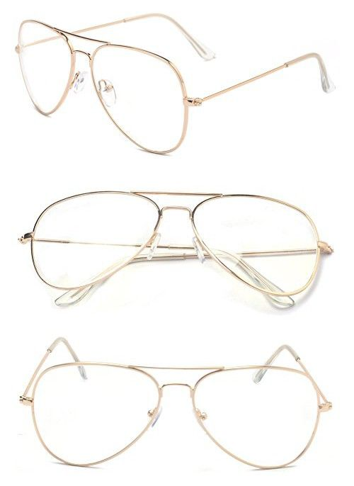5e701a945799 Outray Classic Aviator Metal Frame Clear Lens Glasses 2167c2 Gold