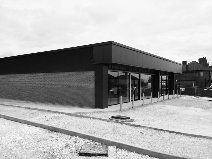 Kingspan clad retail unit in West Yorkshire - Bamford Architectural Ltd. Holmfirth