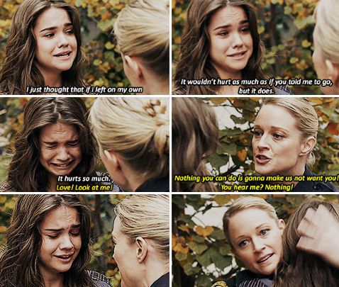 "#TheFosters 2x18 ""Now Hear This"" - Callie and Stef - i cried at this moment was so emotional ❤ #lovethefosters"