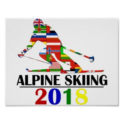 2018 ALPINE SKIING POSTER - decor gifts diy home & living cyo giftidea