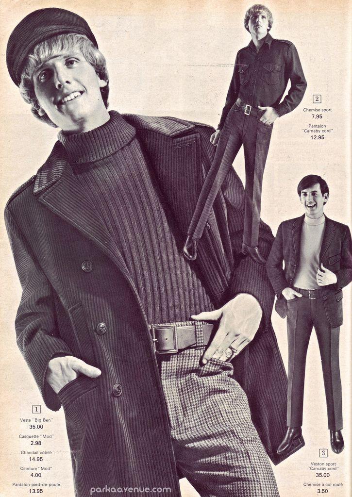 Mod young men's fashion ~ Eaton's Catalog 1966