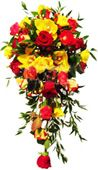 Red roses, yellow roses and greens to Hyderabad delivery. Here you can find all types of gifts to Hyderabad delivery.  Visit our site : www.flowersgiftshyderabad.com/Bridal-Bouquet.php