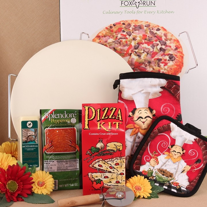 Oh I would love to send this Gourmet Pizza Making Kit to my boy! I know he lives off of pizza!  http://www.bisketbaskets.com/gourmet-pizza-making-kit.html#