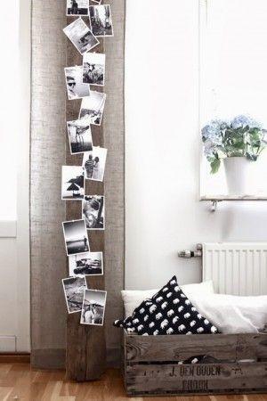 Tolle Idee um Fotos mal anders darzustellen. Super Alternative für den langweiligen Bilderrahmen. Noch mehr Ideen für originelle Fotowände gibt es auf www.Spaaz.de