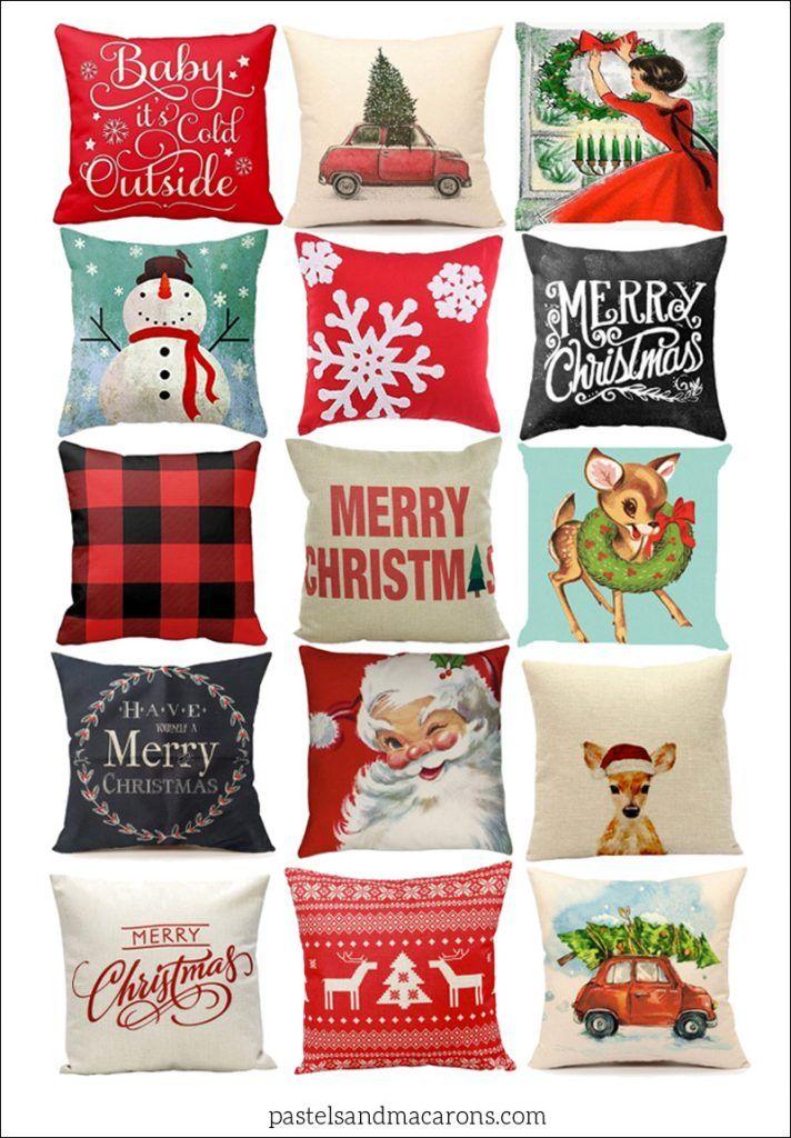 how to make christmas cushions
