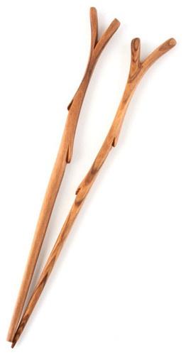 Twig Chopsticks. Conversation pieces.