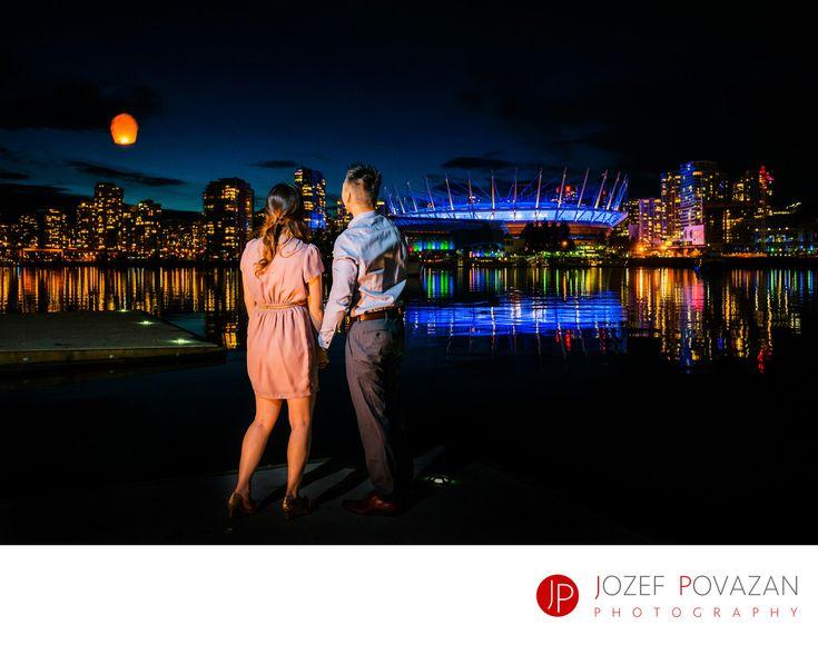 Night Lanterns Over Vancouver False Creek